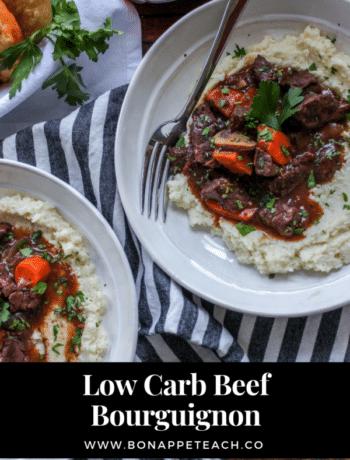 Low Carb Beef Bourguignon