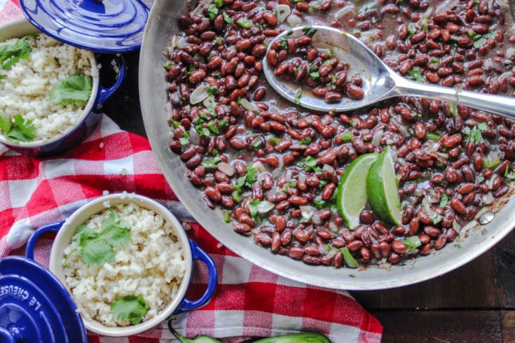 Low Carb Cuban Style Black Beans