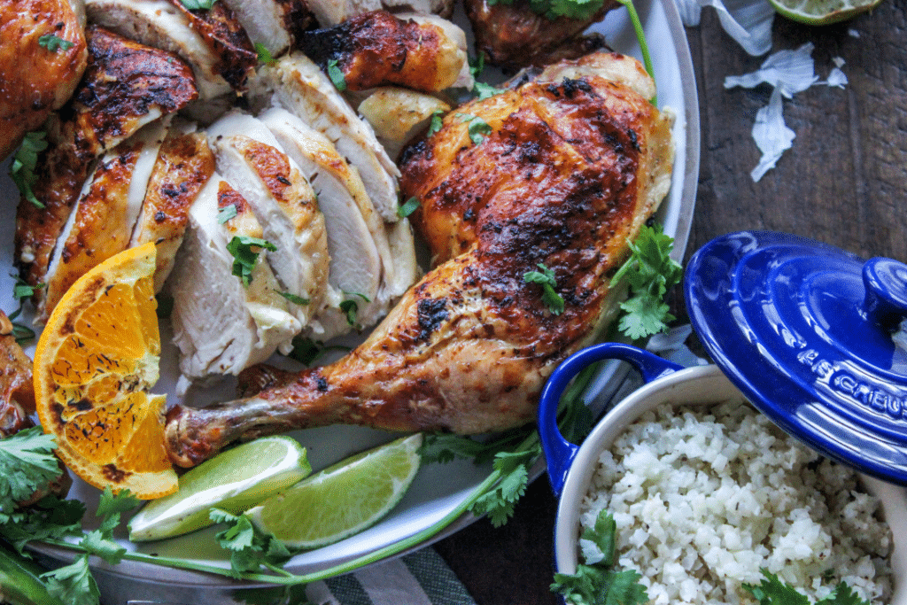 Low Carb Mojo Roasted Chicken