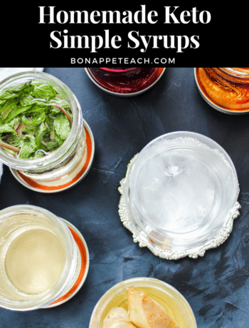 Homemade Keto Simple Syrup