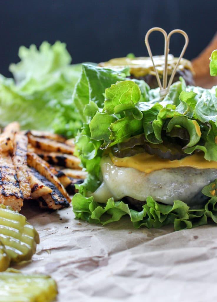 Keto Cuban Sandwich Burgers