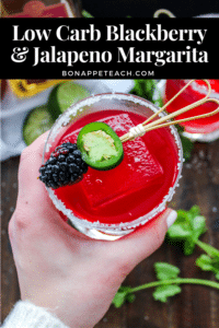 Margarita Poppins: Low Carb Blackberry Jalapeno Margarita