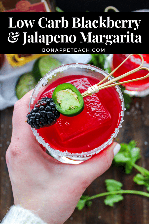 Low Carb Blackberry Jalapeno Margarita