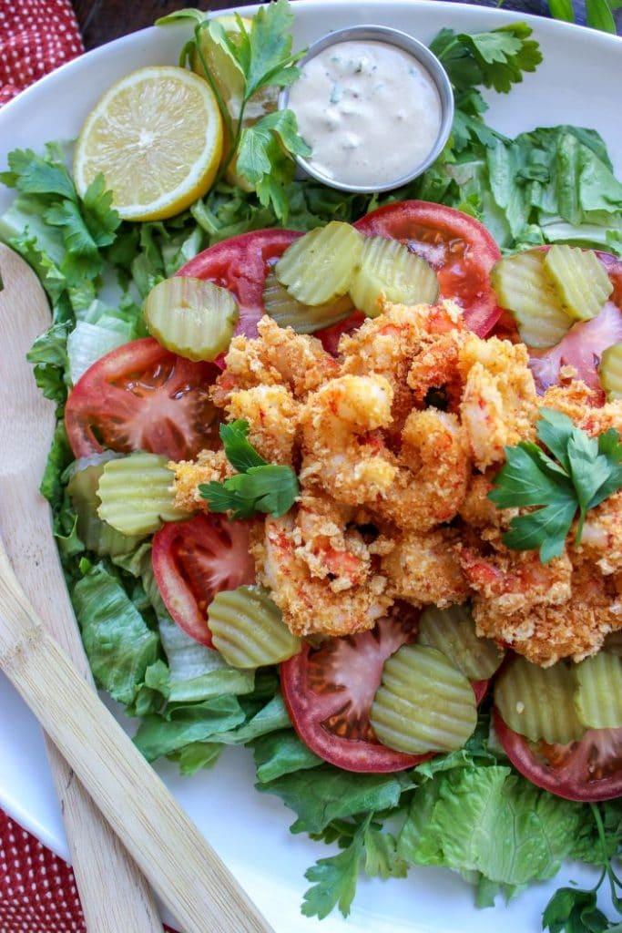 Low Carb Shrimp Po' Boy Salad