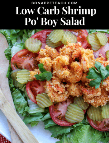 Low Carb Shrimp Po Boy Salad