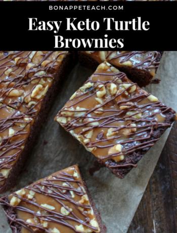 Easy Keto Turtle Brownies