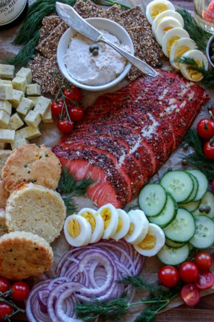 Low Carb Smoked Salmon Board