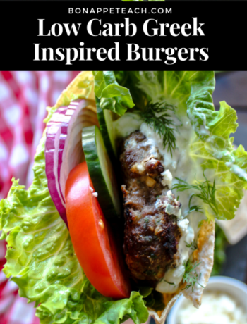 Low Carb Greek Inspired Burgers