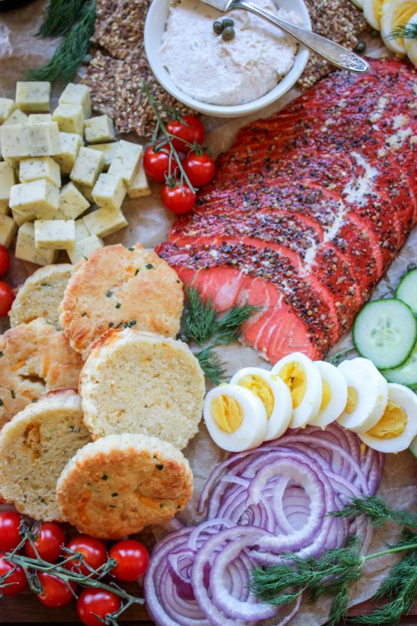 Low Carb Smoked Salmon Board 6