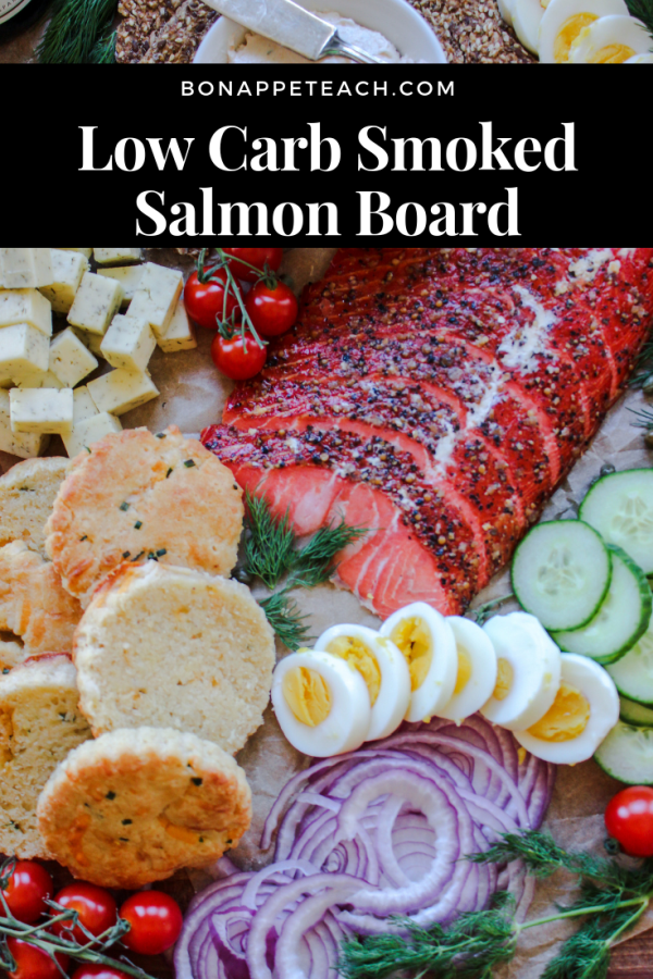 Low Carb Smoked Salmon Board