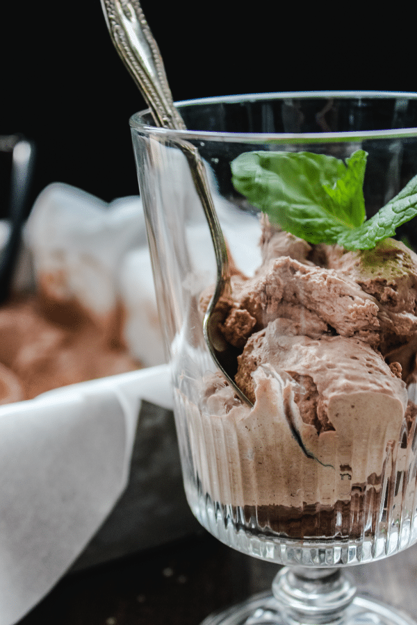No Churn Keto Frosty