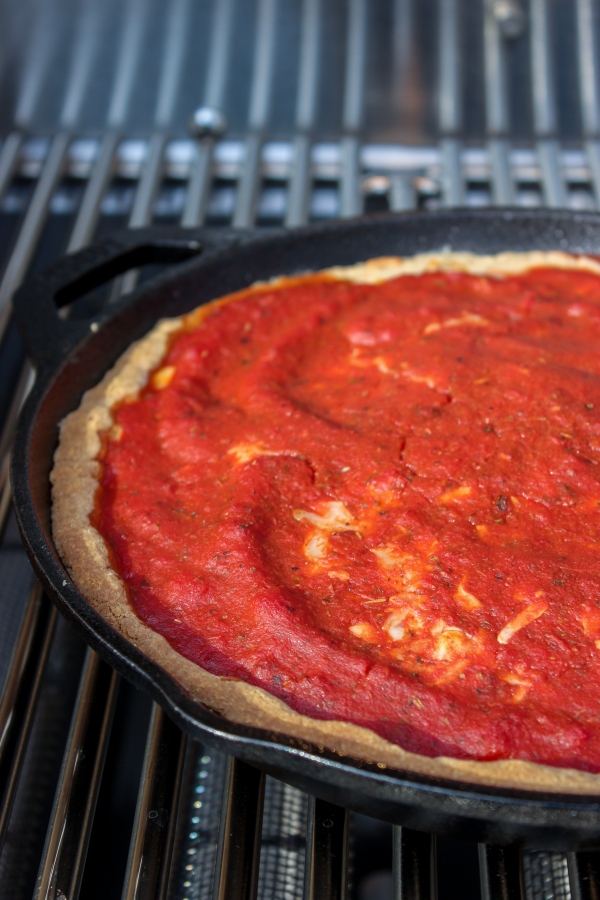 Keto Chicago Style Deep Dish Pizza