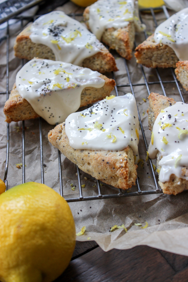Keto Ricotta Lemon Poppyseed Scones