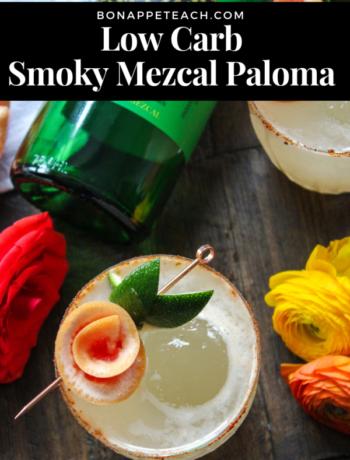 Low Carb Smoky Mezcal Paloma