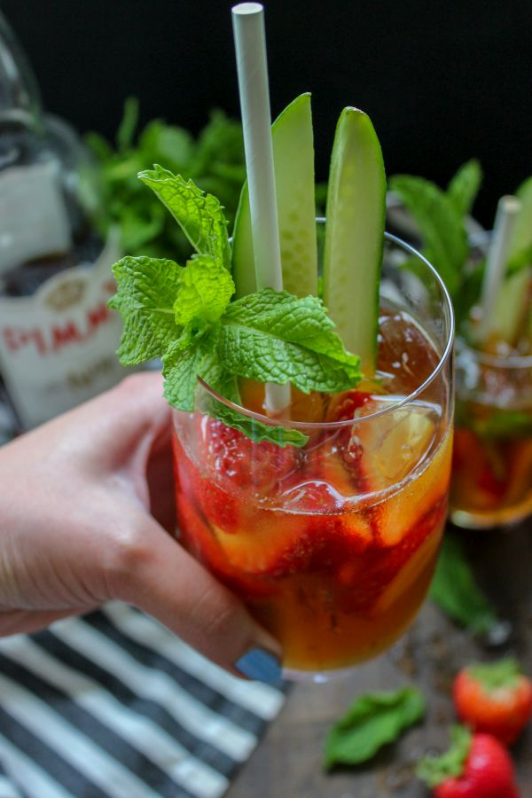 Low Carb Pimms Cup Cocktail