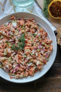 Easy Cedar Plank Salmon Salad