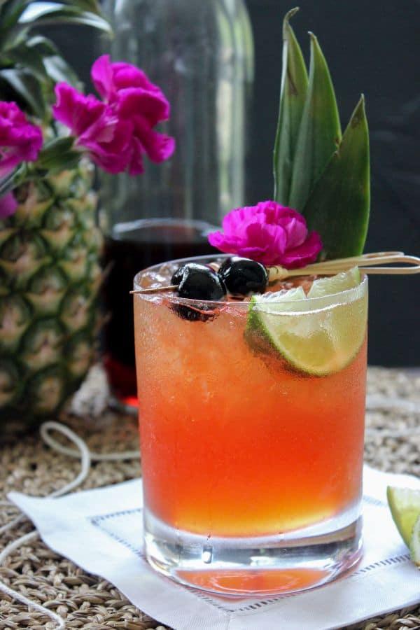 Low carb jungle bird cocktail