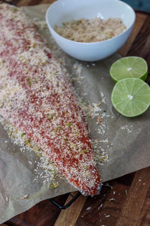 Coconut Crusted Salmon with Chimichurri