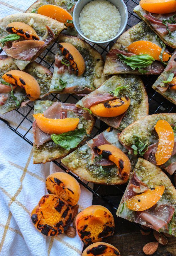Grilled Low Carb Apricot Pesto & Prosciutto Flatbread