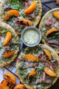 Grilled Low Carb Apricot Pesto & Prosciutto Flatbread