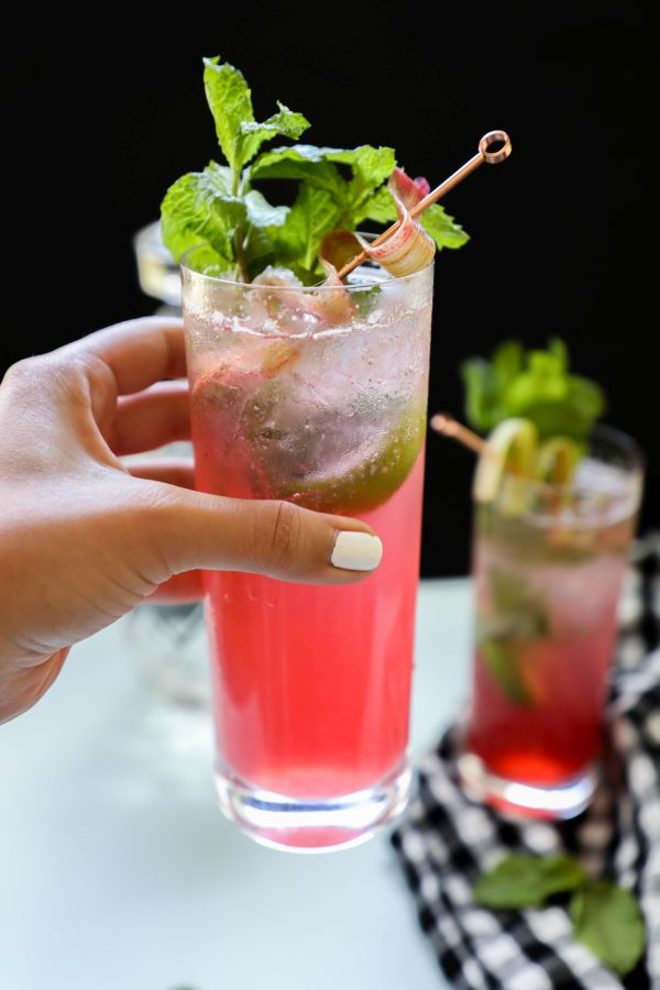 sugar free rhubarb mojito