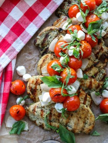 Garlic Herb Chicken with Fire Roasted Bruschetta