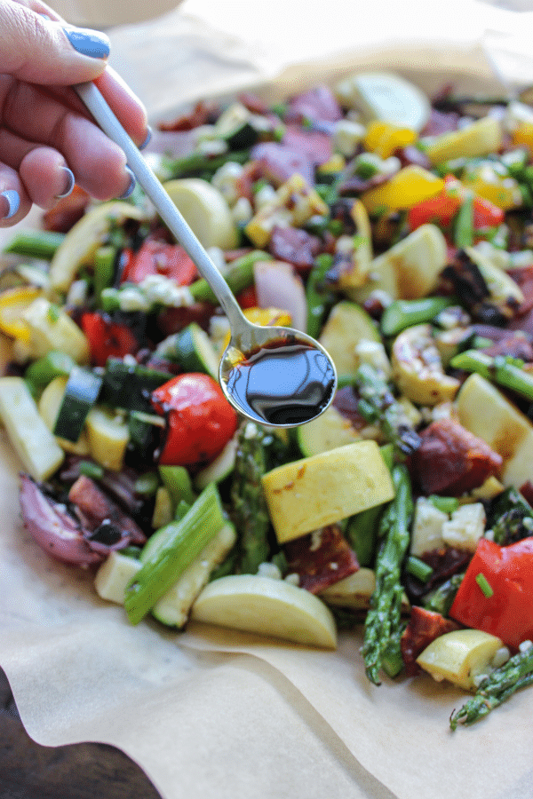 Grilled Veggie Salad with Bacon & Balsamic