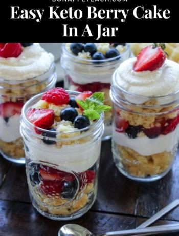 Keto Berry Cake In A Jar
