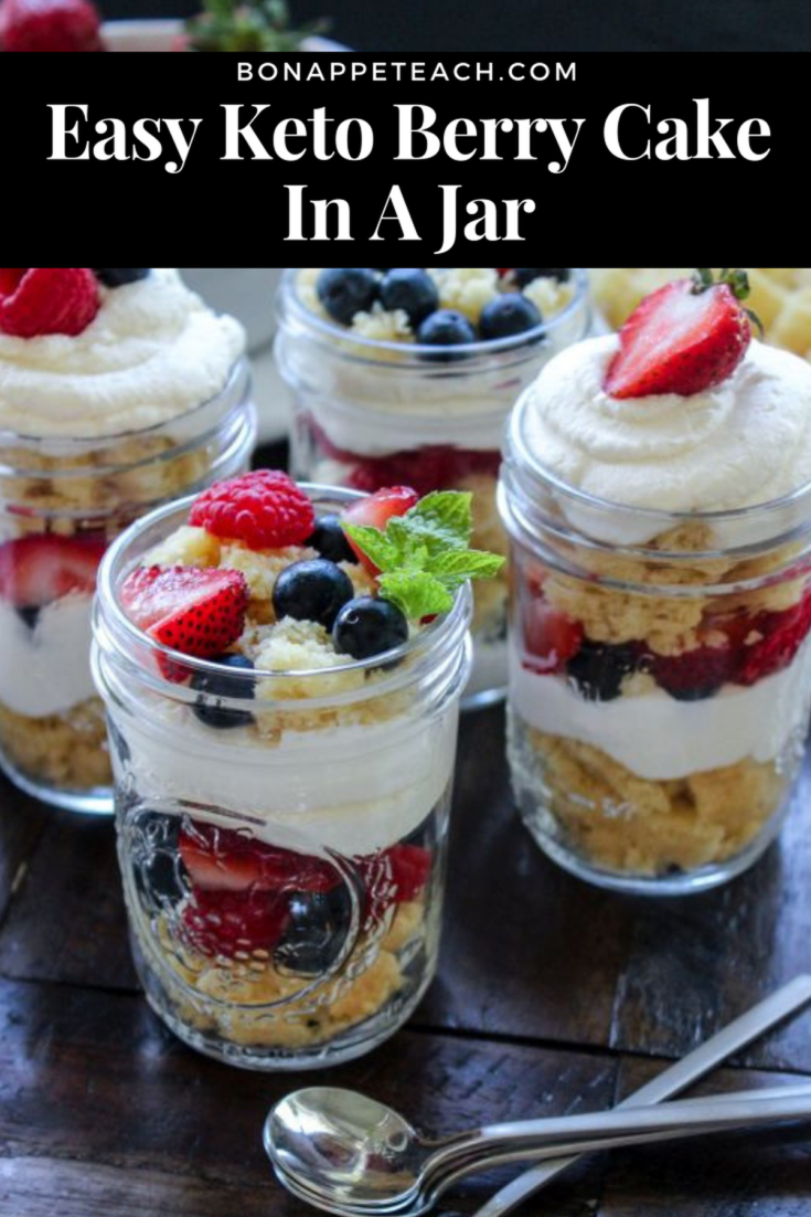 Easy Keto Berry Cake In A Jar