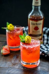 Strawberry Lemonade Keto Whiskey Smash