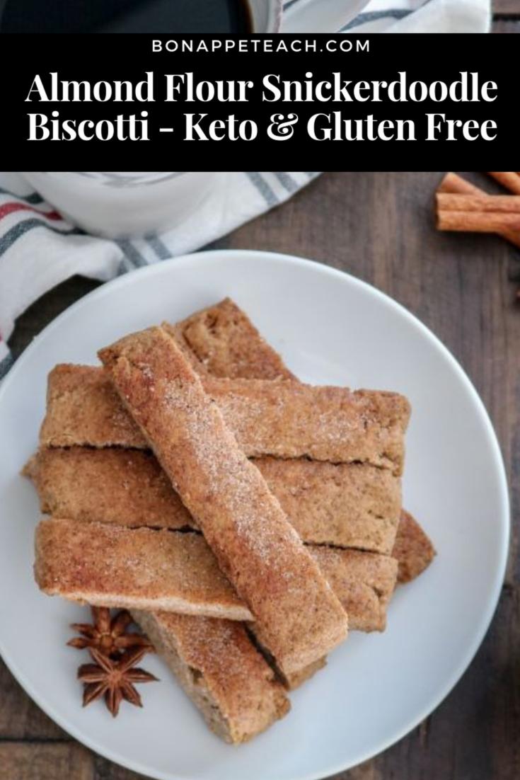 Almond Flour Snickerdoodle Biscotti - Keto & Gluten Free