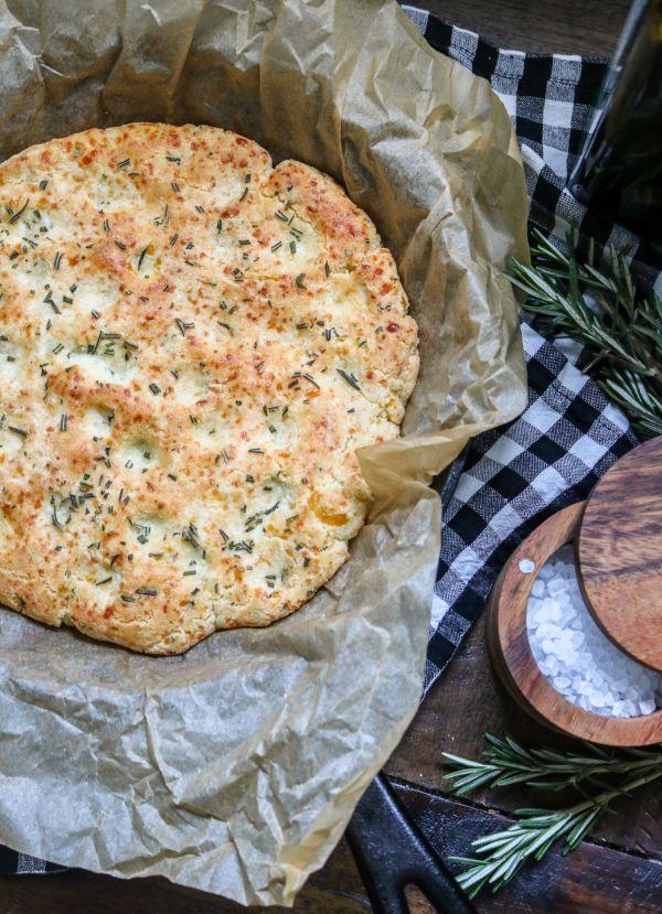 Easy Cast Iron Keto Focaccia Bread