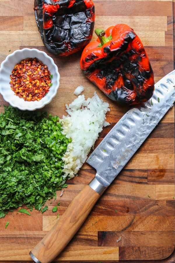 Easy Fire Roasted Red Chimichurri