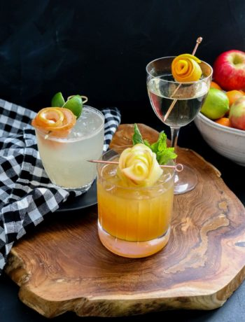 How To Make A Fruit Flower Garnish