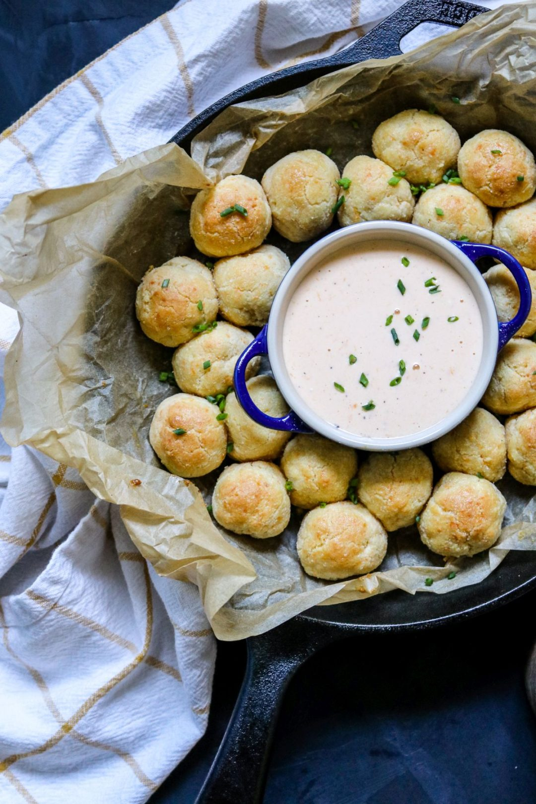 Keto Cheddar Biscuit Bombs with Beer Cheese Sauce