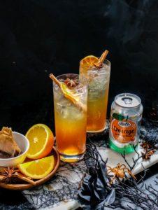 Spiced Vanilla Chai Iced Tea With Orange (Mocktail/Cocktail)