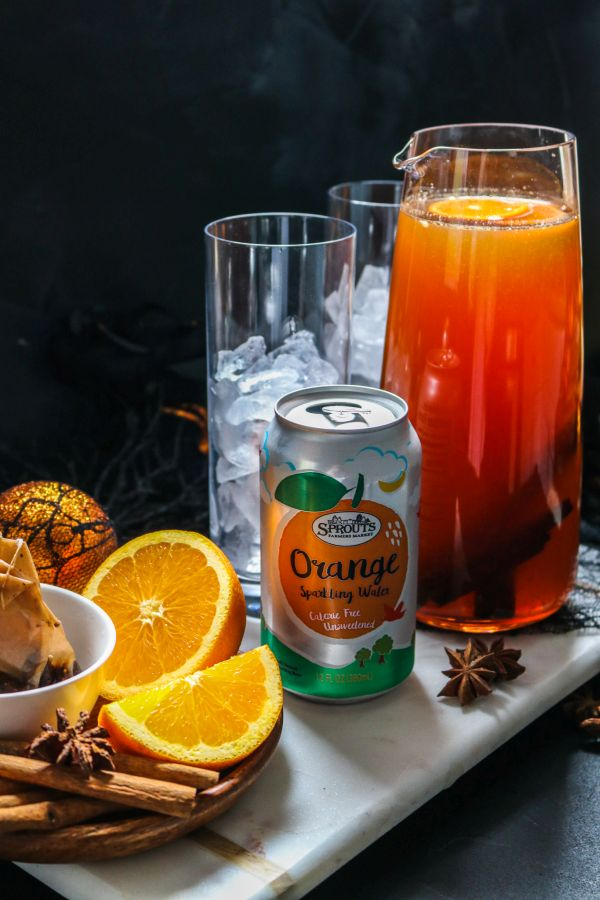 Spiced Vanilla Chai Iced Tea with Orange