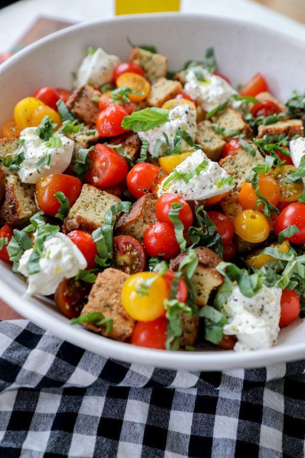 Keto and Gluten Free Panzanella Salad