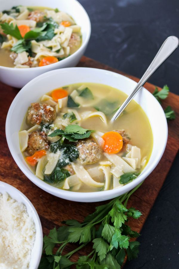 Low carb Italian Wedding soup