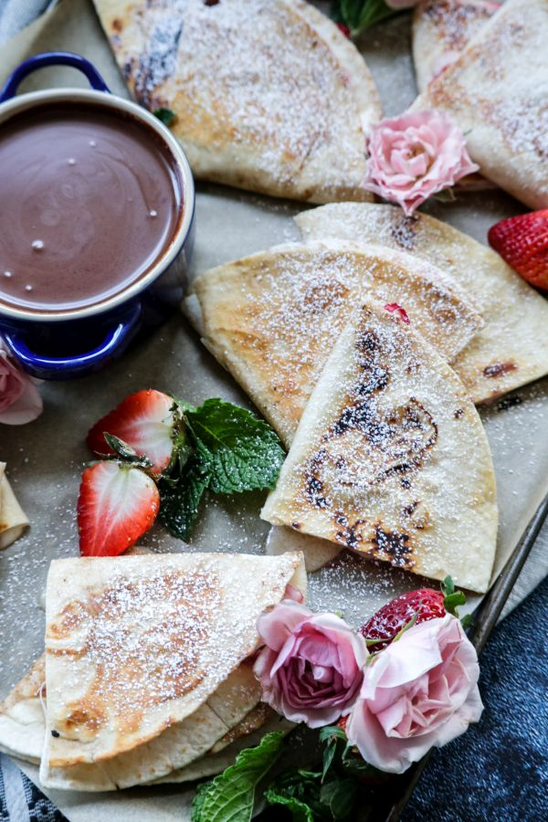 Low Carb Strawberry Cheesecake Quesadillas
