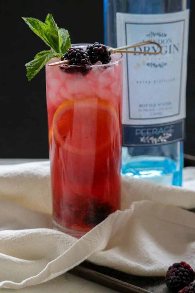 How to Gin Friends and Influence People- A Keto Blackberry Bramble 1