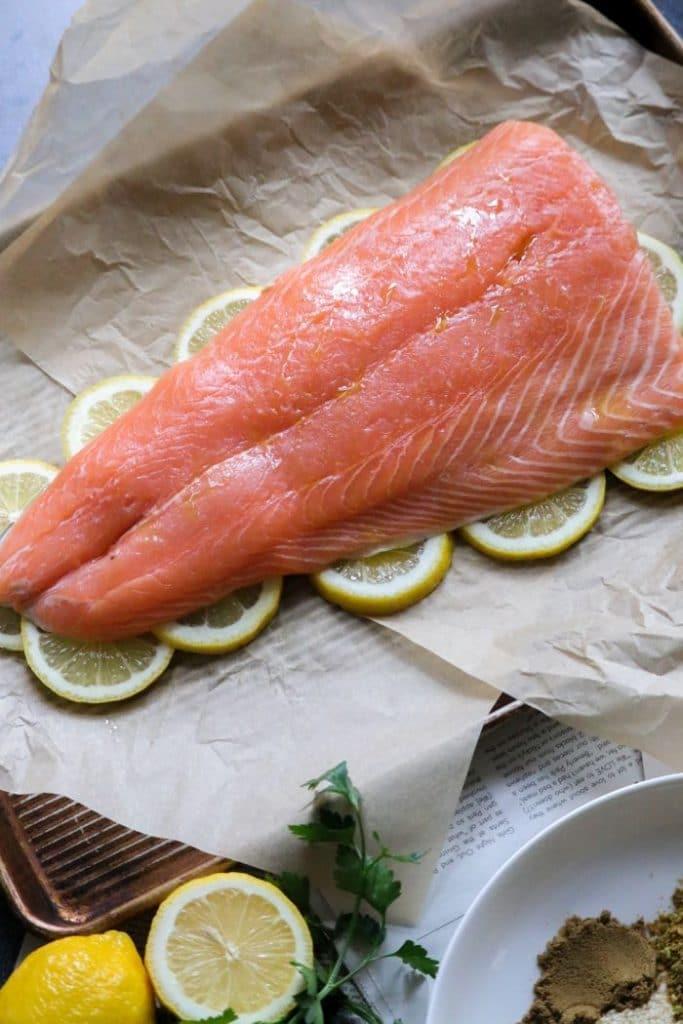 Easy Grilled Pistachio Sesame Salmon