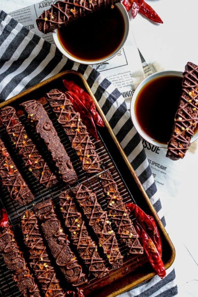 Keto Mexican Hot Chocolate Biscotti