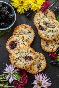 Blackberry Earl Grey Almond Flour Scones (Keto)