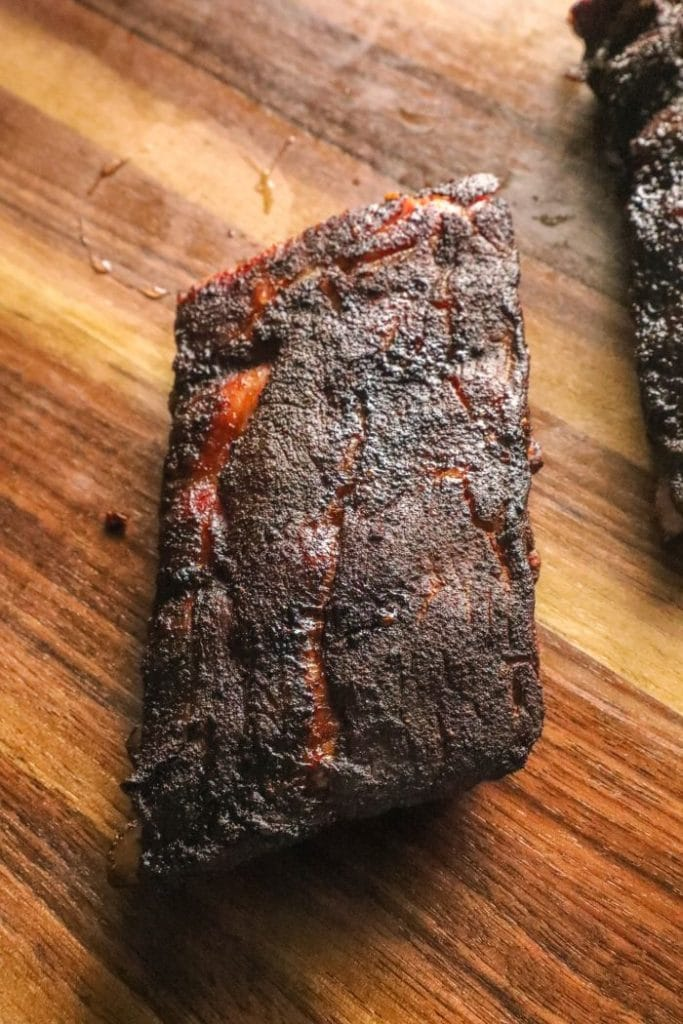 Dry rub ribs before wrapping