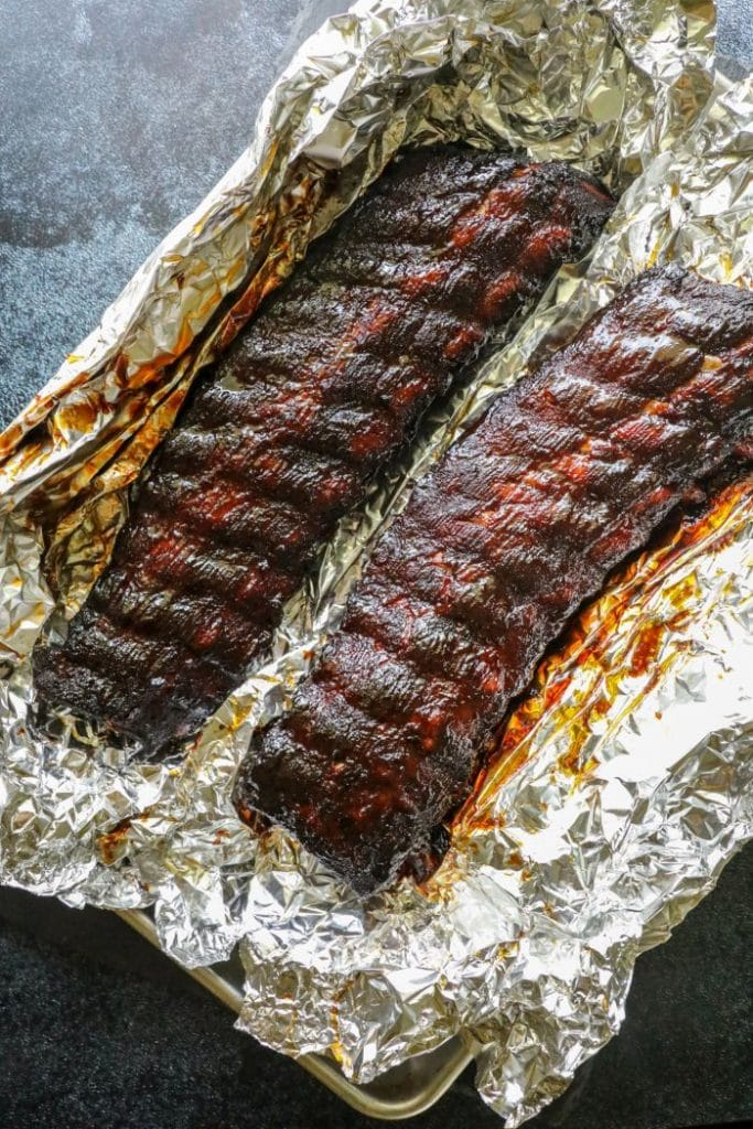 Foil wrapped hot and fast ribs