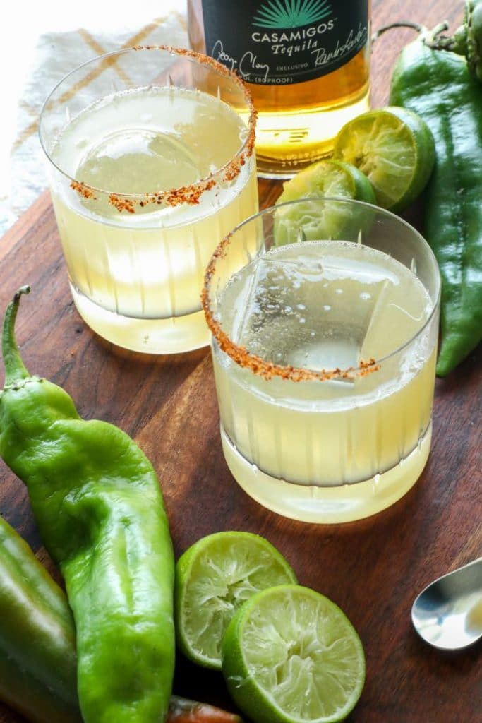 Low Carb Hatch Chili Margarita
