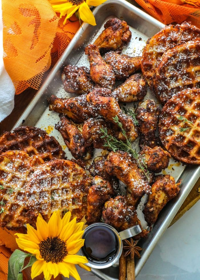 Grilled Pumpkin Spice Chicken Wings