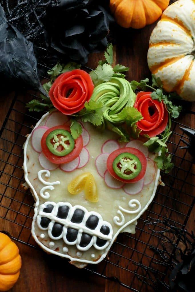 Homemade Halloween Pizza Skulls
