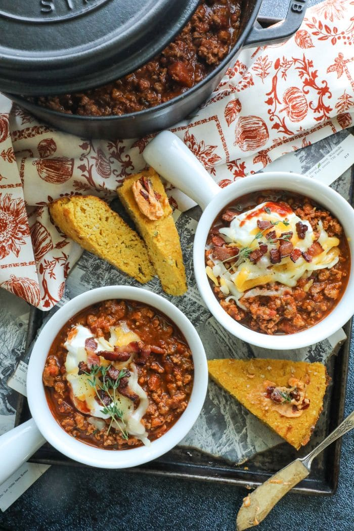 Low Carb Chipotle Pumpkin Turkey Chili